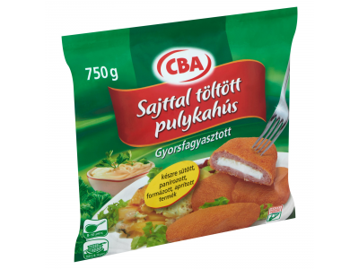 CBA gyorsf.készre sütött, panír.sajttal tölt.pulykahús 750g