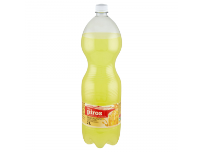 CBA PIROS szénsavas, cukormentes üdítőital ananász ízű 2l