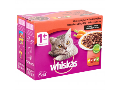 Whiskas húsos-zöldséges vál. márt.felnőtt macskáknak 12x100g