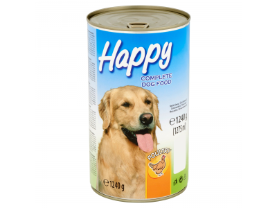 Happy baromfi konzerv kutyaeledel 1240g