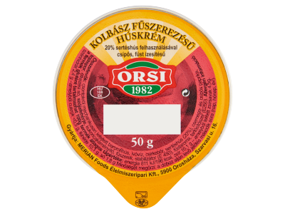 Orsi kolbász fűszerezésű húskrém 50g