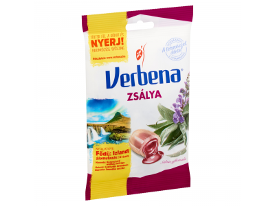 Verbena töltött keménycukorka zsályakiv.mézzel és C-vit.60g