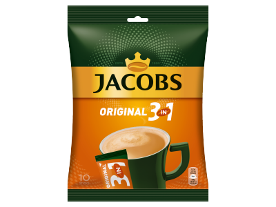 Jacobs original 3in1 azonnal oldódó kávéitalpor 10x15,2g