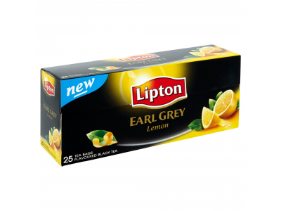 Lipton earl grey tea lemon 25x2g