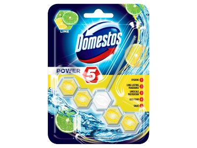 Domestos power 5 lime WC frissítő blokk 55g
