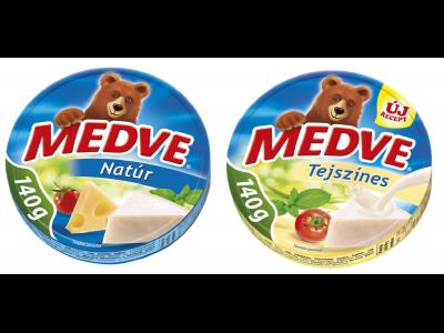 2db Medve ömlesztett sajt 8 cikk 140g