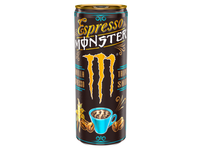 Monster Espresso kávéital tejjel cukorral vaníl.eszpr.250ml