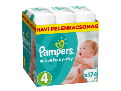 Pampers Active Baby-Dry pelenka 4-es (Maxi) 174db