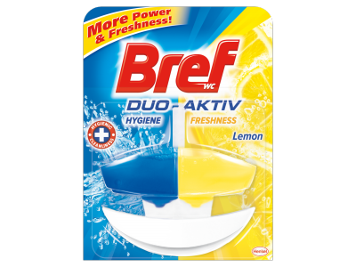 Bref duo aktiv kosaras wc öblítő Lemon 50ml