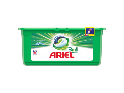 Ariel mosókapszula PODS mountain spring 28 mosáshoz