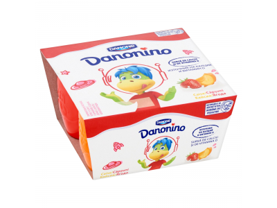 Danone Danonino eper-sárgabarack 4*50g