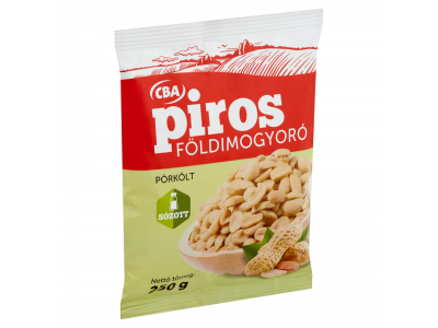 CBA PIROS földimogyoró pörkölt, sós 250g