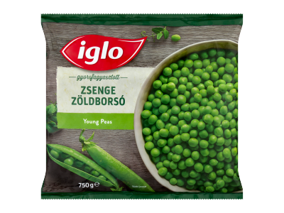 Iglo gyorsfagyasztott zsenge tavaszi zöldborsó 750g