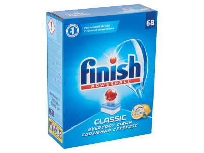 Finish powerball classic citromos mosogatógép-tabletta 68db