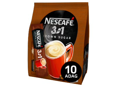Nescafé 3in1 barna cukor 10x16,5g