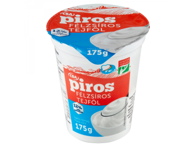 CBA PIROS tejföl 12% 175g