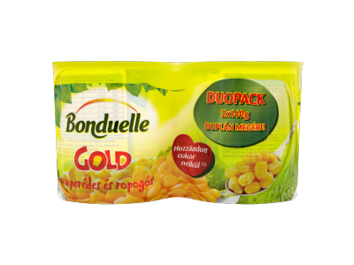 Bonduelle gold morzsolt csemegekukorica 2x170g/140g