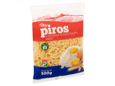 CBA PIROS száraztészta 4 tojásos orsó 500g