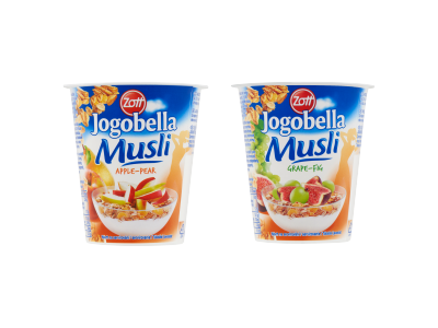 Zott Jogobella musli joghurt (alma-körte, szőlő-füge) 150g