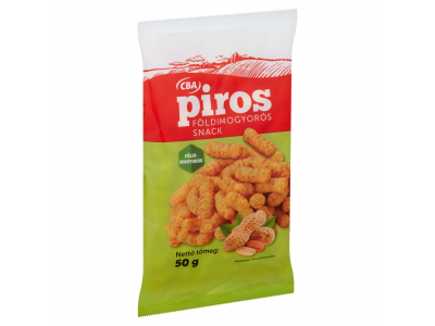 CBA PIROS kukorica snack földimogyorós 50g