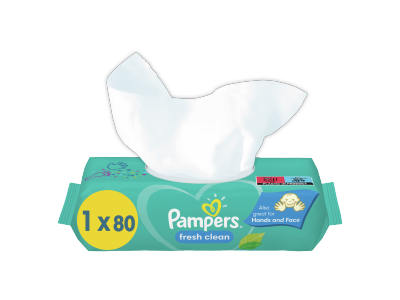 Pampers Fresh Clean nedves törlőkendő 80db