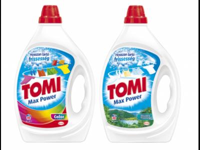 2db Tomi m.por 2,34kg és/vagy mosógél 2l
