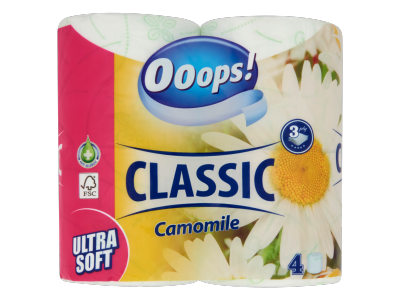 Ooops! Classic Camomile toalettpapír 3rétegű 4tekercs