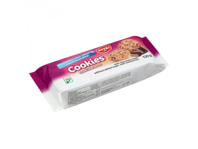 Detki Cookies hozzáad.cuk.nélk. édes omlós keksz csok. 130g