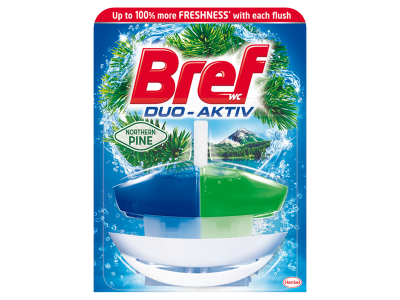 Bref duo aktiv kosaras wc öblítő pine 50ml