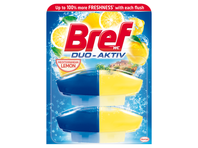 Bref duo aktiv lemon WC-frissítő utántöltő 2x 50ml