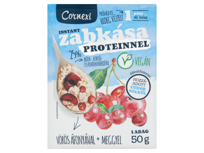 Cornexi protein zabkása v.áfonya-meggy éd.szerrel vegán 50g