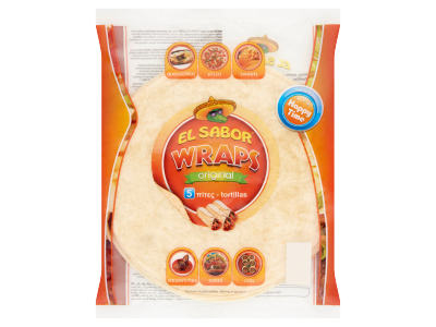 El Sabor Wraps Original tortilla búzalisztből 200g