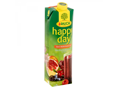 Happy day gyümölcslé red multivitamin 100% 1l