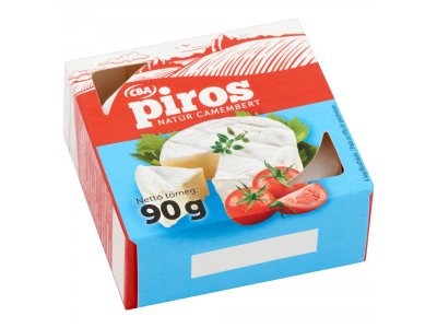 CBA PIROS camembert natúr 90g
