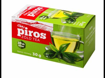 CBA PIROS filterezett natur zöld tea 20x1,5g