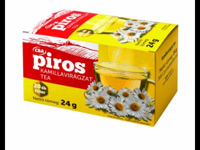 CBA PIROS filterezett kamillavirágzat tea 20x1,2g