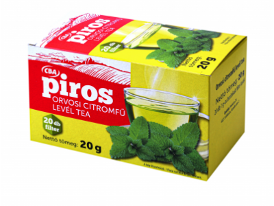 CBA PIROS filterezett citromfű levél tea 20x1g