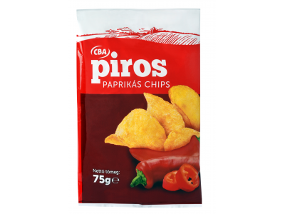 CBA PIROS chips paprikás 75g