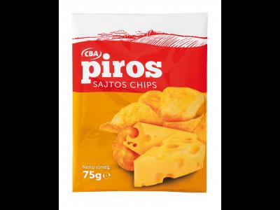 CBA PIROS chips sajtos 75g