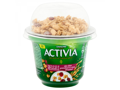 Danone Activia reggeli joghurt natúr + áfonya-granola 168g