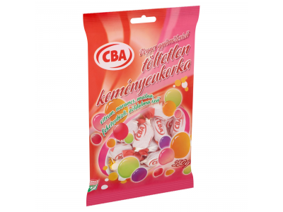 CBA vegyes gyümölcsízű töltetlen keménycukorka 250g