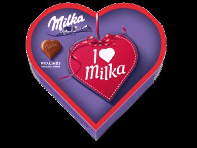 Milka I Love tejcsokoládé praliné mogyorókrémes 44g