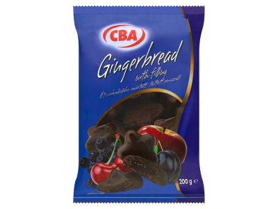 CBA PIROS étcsokoládéba mártott töltött puszedli 200g