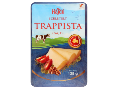 Hajdúsági trappista sajt szeletelt 125g