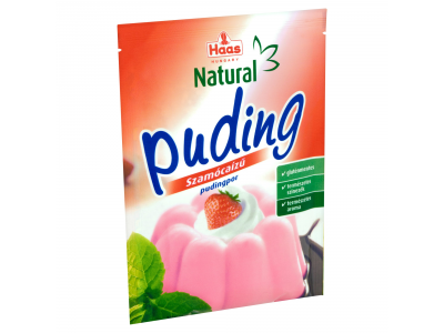 Haas natural pudingpor gluténmentes szamóca 40g
