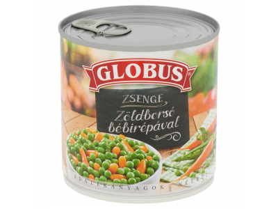Globus zöldborsó-sárgarépa tépőzáras 400g/265g