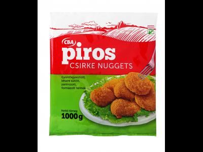 CBA PIROS gyorsfagyasztott csirke nuggets 1000g