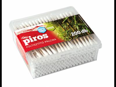 CBA PIROS bambusz pálcikás fültisztító dobozos 200db