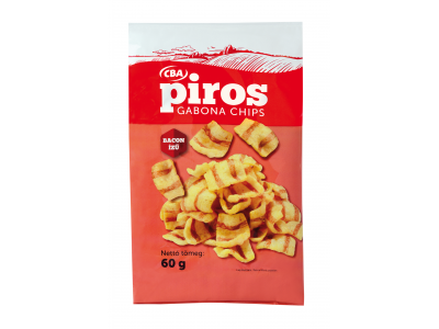 CBA PIROS gabonachips bacon ízű 60g