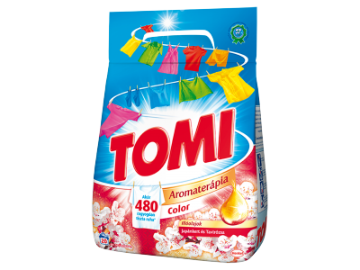 Tomi aroma.color japánkert és tavirózsa mosószer 20mos.1.4kg